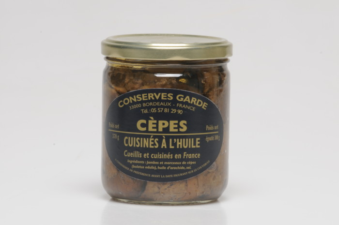 conserves de cèpes Garde