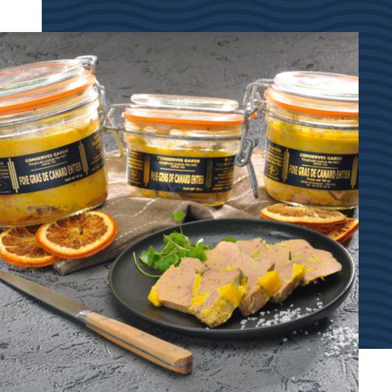 vente de foie gras du Sud Ouest