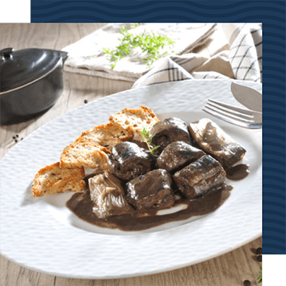 assiette de Lamproie à la bordelaise